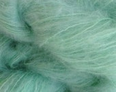 Mohair Yarn in Glass Green Fingering Weight