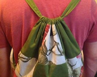 Patchwork Drawstring Backpack