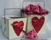 PATTERN Valentines Take Out Love Box and Fortune Cookies Primitive Tutorial Digital Download by Happy Valley Primitives