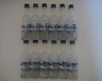 12 Empty 50mL Grey Goose Bottles