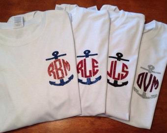 Anchor monogram longsleeve shirt