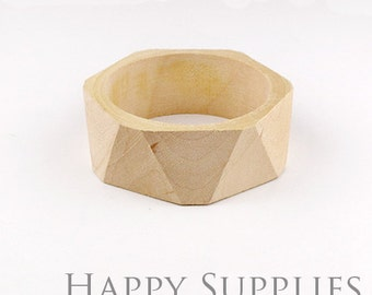 2 pcs Unfinished Blank Wooden Bracelet (MT036)