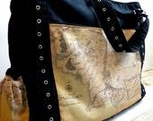 CUSTOM Diaper Bag The Upsized Expedient Weekender or Diaper Bag- FIERCE Custom- Premium Fabric