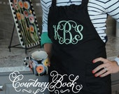 Ruffles and Rumcake Monogram Apron