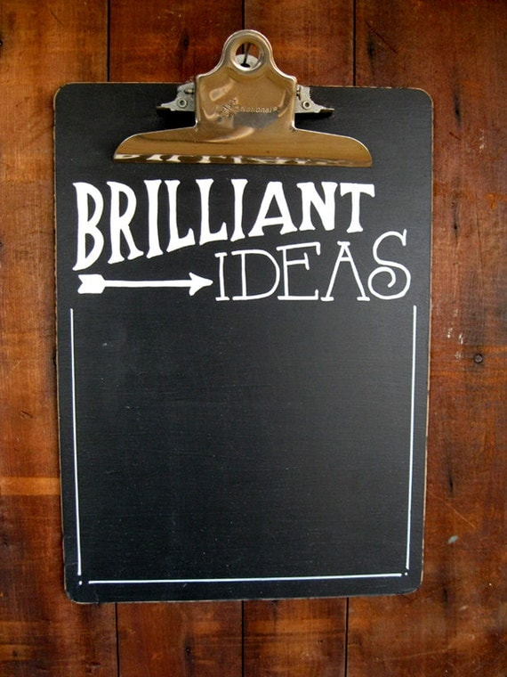 Chalkboard Clipboard List Your Brilliant Ideas by ...