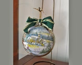 Hand Painted Christmas Ornament Large