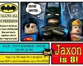 Lego Batman Digital Birthday Invitation