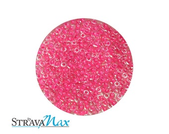 15/0 Luminous Hot Pink Color Lined Miyuki Round Rocailles Seed Beads