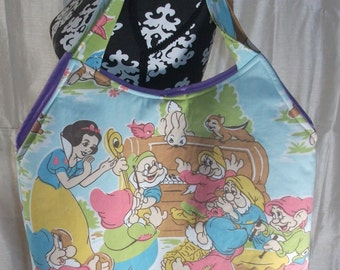 Snow White and Dwarfs Tote/ Bag OOAK   Disney Princess