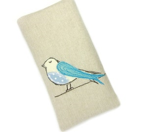 iPhone 6 Sleeve, Blue Bird Phone Case, iPhone 5, iPhone 6 Case, iPhone 6 Plus Pouch, iPhone 6 Cover