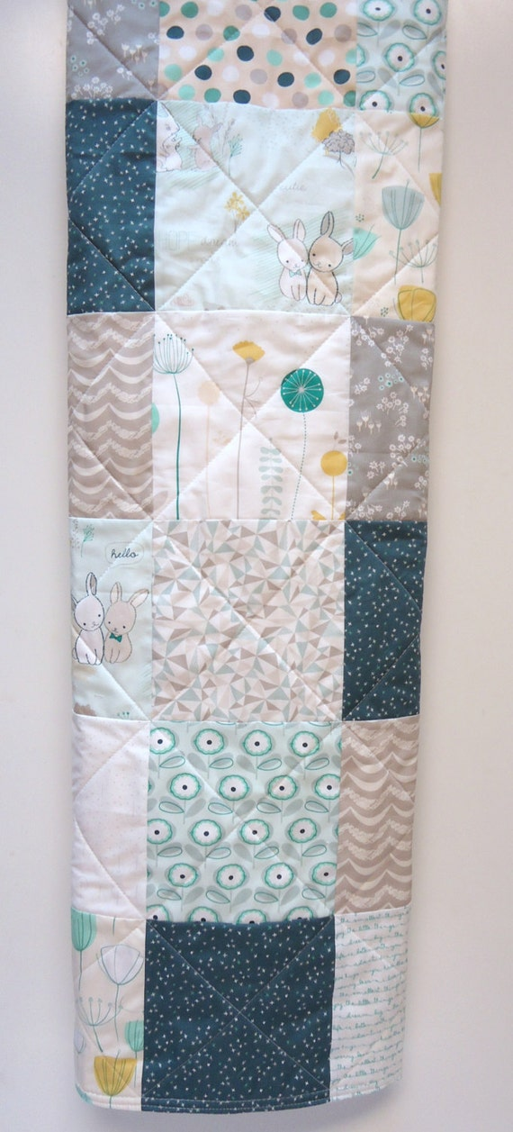 Baby Quilt-Gender Neutral-Traditional Patchwork Crib