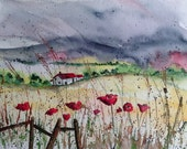"""4.5""""x5.5"""" Fine Art Landscape Watercolor Print"""