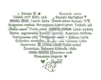 LOVE Languages Art Prints - 8.5 x 11 - MINIMALIST Collection - Featured: Asparagus