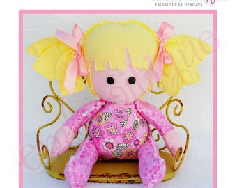 Doodley Dolls Lexi Add On PDF Sewing & Embroidery Pattern- Posh and Proper - Instant Download -Digital Machine Embroidery Design