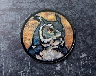 Great Horned Owl (art magnet)