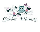 Premade Business Logo Design Owl on Floral Branch 49 Garden Whimsy