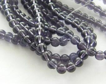 50 Dark purple glass beads B26