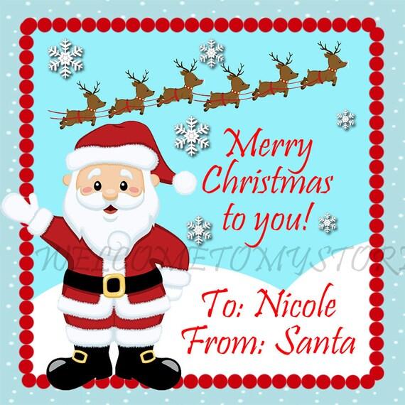 DIY Santa Claus Christmas Printable Gift Tags by welcometomystore