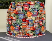 Quilted stand mixer cover - reversible - tomatoes, canned goods and vegetables
