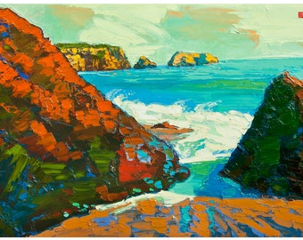 Californian Beach Open Edition Print - Stop and Stare 8 X 10