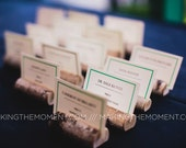Reserved - 110 Rustic Wedding Place Card Holders