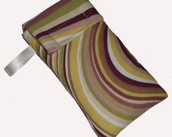 Brown Green Swirl Cellphone Mobile Ipod Iphone Gadget Case Pouch Sock Bag PADDED - Gift Idea