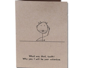 Valentine's Day Tooth Humor Greeting Card