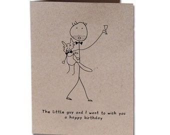 Birthday Humor Greeting Card Little Guy