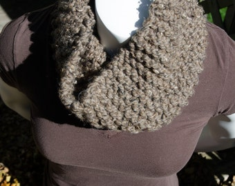 Barley Brown Tight Cozie aka Cowl Infinity Scarf