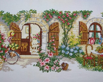New Finished Completed Cross Stitch - Ideal home -