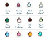 Add A Birthstone Charm -- Additional Dangles for Necklaces -- Not Available Separately, Add-on Only