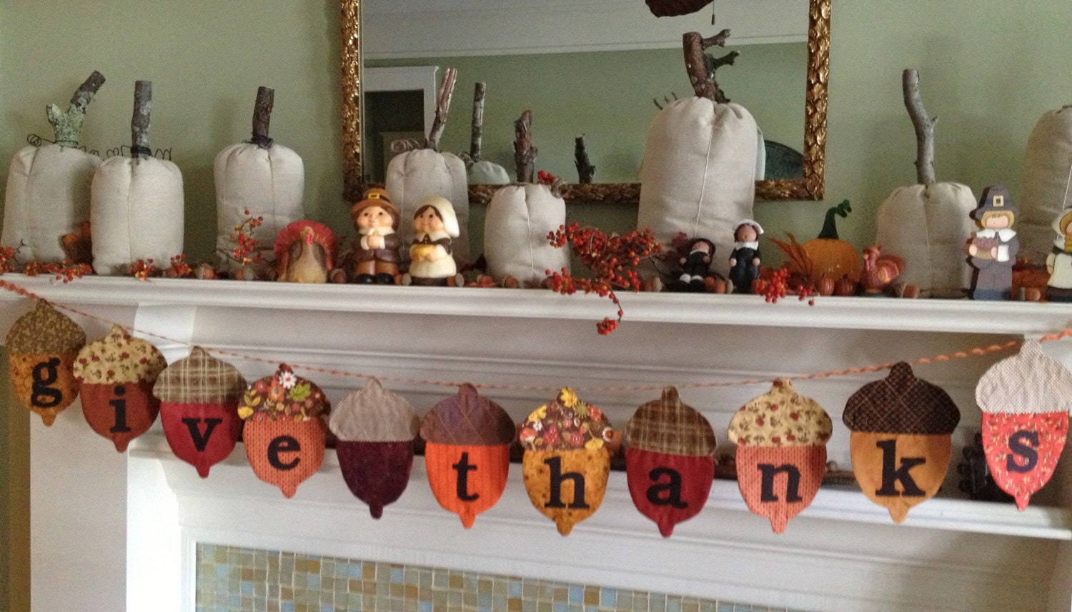 Decorating Ideas > Thanksgving Banner Fall Decor Thanksgiving By Primsandproper ~ 071759_Thanksgiving Kitchen Decorations
