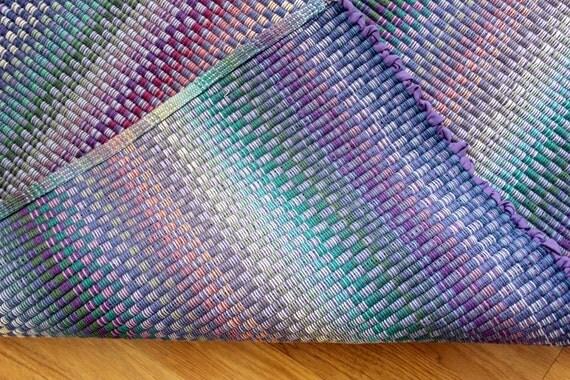 Kitchen Rag Rug Blue Purple Pastel Rag Rug Summer Colors 2