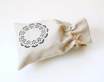 Linen gift bag, small drawstring pouch, bridal shower favor bag, linen pouch, reusable eco-friendly bag, party favor bag, linen bag