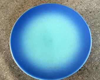 Footed Compote Dish Indigo Blue Scandinavian Finnish
