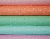 Yuwa Atsuko Matsuyama little flowers 30's collection lilac fat quarter bundle of reproduction fabric