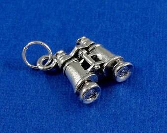 Binoculars Charm - Silver Binoculars Charm for Necklace or Bracelet