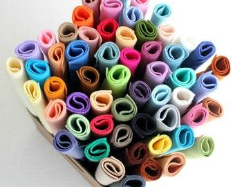 Merino Wool Blend Felt - You Choose 30 6x9 Sheets