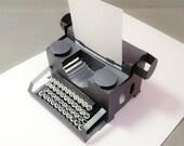 pop-up vintage style typewriter card