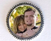 Military or Groom's 2-sided Silver Wedding Memorial Pocket Coin - FREE SHIPPING
