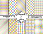 Printable Papers - Digital Scrapbook Paper in Spring Colors with Small Print - Bubblegum II Cardsies - Instant Download
