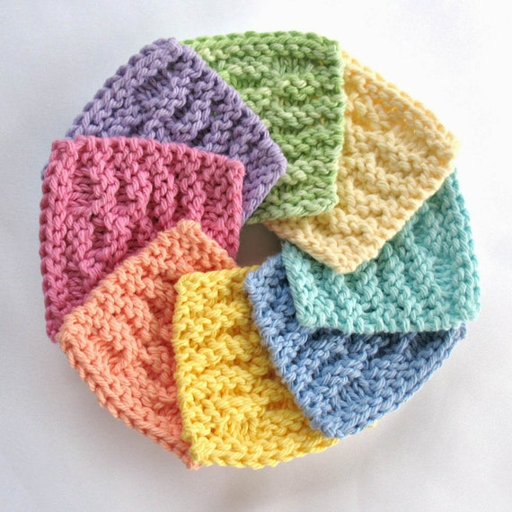 Knit Scrubbie Pattern : Face Scrubbies Facial Scrubbie Washcloth Cotton Facial Cleansing Pads Makeup ...