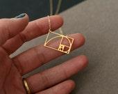 Mini Fibonacci necklace, golden ratio necklace, golden ratio charm