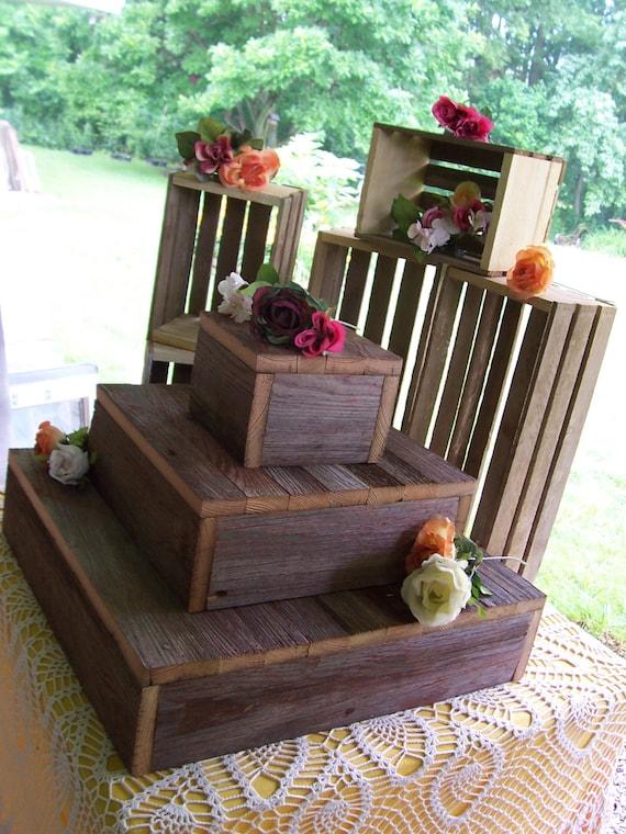 Rustic Cupcake Wedding Stand