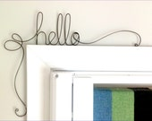 Personalized sign, Custom Sign, Unique Hello Door Sign,  Unique Over the Door dream Wall Word