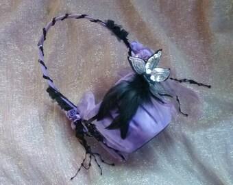 Goth Bride Wedding Decoration Flower Basket by gothB4play