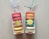 100 mini paper tray for pound cake, macarons with 100 cello bags