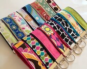 Key Fob, Wristlet Key Fob, Mini Key Fob, Keychain - Choose your design and Size