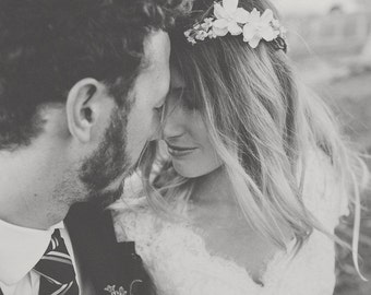 wedding headband, Bridal Flower hair, wedding accessories, wedding headpiece,  Headband, head wreath, hair accessories, flower girl
