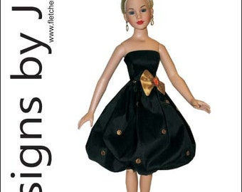 "Sophisticated Lady Dress Pattern for 18"" Kitty Collier"